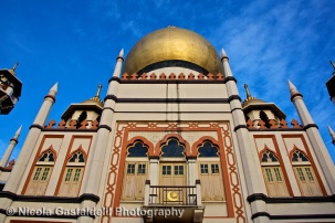 Sultan Mosque in historic Kampong Glam is the focal point for Singapore's Muslim community.