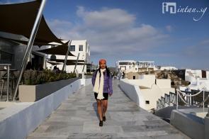 Walking on sunset boulevard, Oia, Santorini