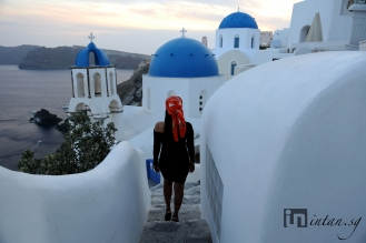 Blue domed church, Oia, Santorini