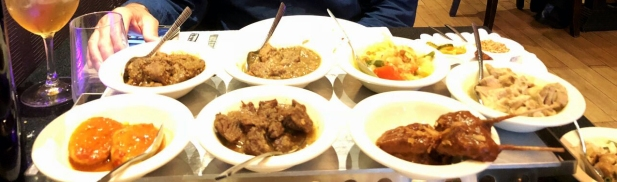 'Rijsttafel' Indonesian meal