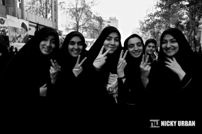 Beautiful Iranians during the protest against US sanctions.