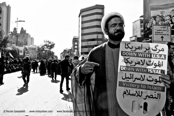Iranians protest amid US sanctions.