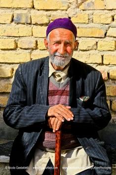 Iran. A man posing at the old village.